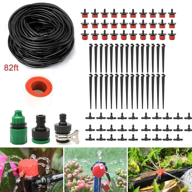 MAILE 82ft Garden Irrigation System DIY Drip Irrigation Kit System Water-Saving Plant Garden Hose Sprayer Watering Kit Accessories