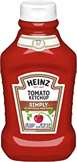 Heinz Simply Tomato Ketchup (44 oz Bottle, Pack of 6)