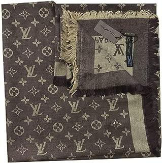 Luxury Monogram Denim Shawl Cashmere/Wool Scarf Warm Large Square Scarves Silk Shawl for Women Girl Men (No.2)