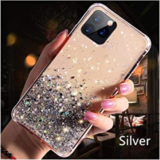 Luxury Bling Glitter Phone Case Compatible for iPhone 11 Pro X Xs Max Xr Soft Silicon Cover Compatible for iPhone 7 8 6 6S Plus,Compatible for iPhone 11 Pro,Silver