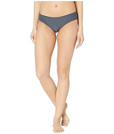 MICHAEL Michael Kors Iconic Solids Shirred Smooth Fit Cheeky Bikini Bottoms (Gunmetal) Women