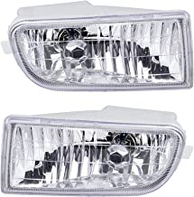 Left Right Front Bumper Fog Lights and H3 Halogen Bulbs Compatible with Toyota Corolla 1993-1997 94 95 96