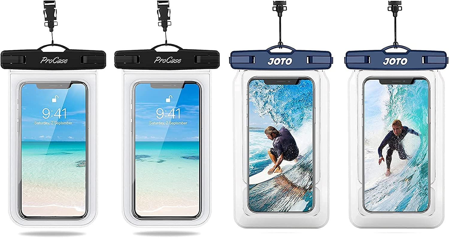 ProCase Universal Waterproof Pouch IPX8 Waterproof Cellphone Dry Bag Bundle with JOTO Floating Waterproof Phone Pouch