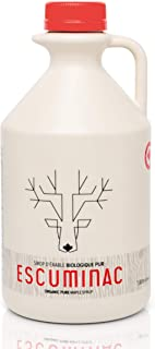 Pure Canadian Maple Syrup by Escuminac Maple Farm. Family Size Format. (33 fl oz) 1L. Canada Grade A, Medium Taste, Great ...