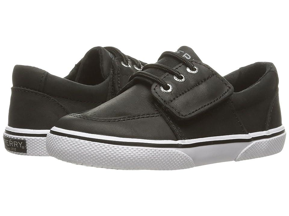 Sperry Kids Ollie Jr. (Toddler/Little Kid) (Black Leather) Boys Shoes