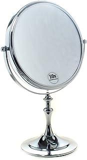 comprar comparacion TUKA Cosmética Espejo 10X Aumento, ø 20cm Espejos para baño, espejo de mesa para Afeitar y Maquillar, 8