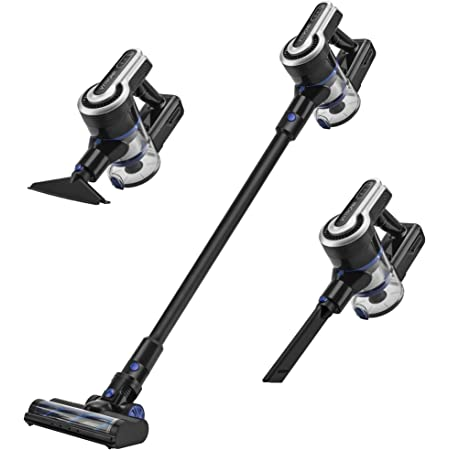 VYTRONIX Powerful 29.6v Lithium 3in1 Cordless Upright Handheld Stick Vacuum Cleaner, Lightweight, Compact. Rechargeable Li-Ion Battery, for Hard Floor, Carpet, Pet Hair, Car, Home with LED lights