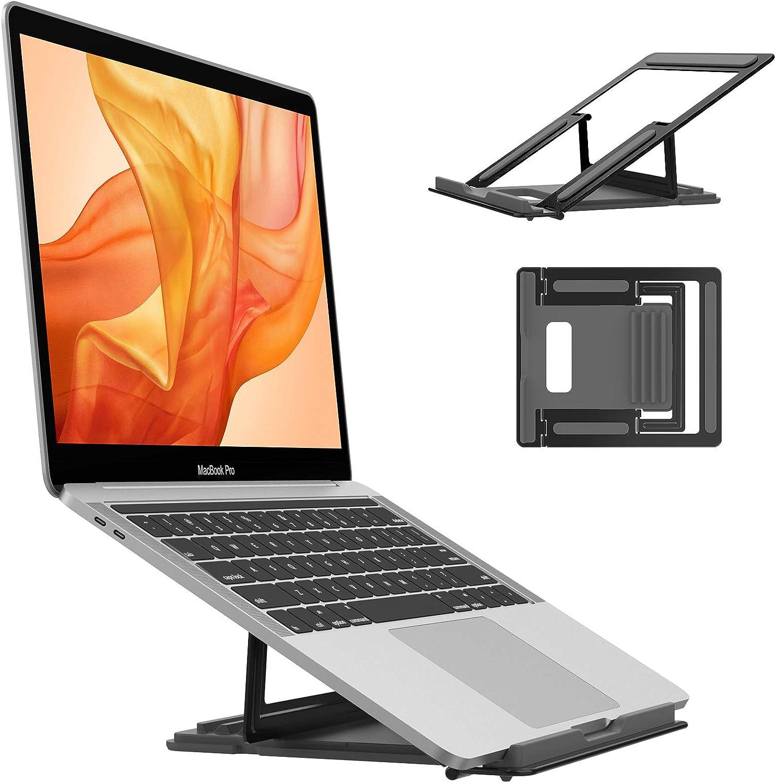 """EasyAcc Soporte Portatil Mesa, Plegable Ventilado Aluminio Soporte Ordenador Portátil, 4 Ángulos Ajustable Elevador Portatil Laptop Stand Compatible con MacBook Lenovo HP etc.10-15.6""""Portatiles"""