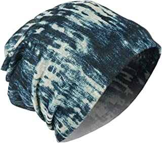 RiscaWin Chemo Hats for Cancer Patients, Multifunctional Multi-Type Baggy Slouchy Beanie Chemo Hat Cap Infinity Scarf