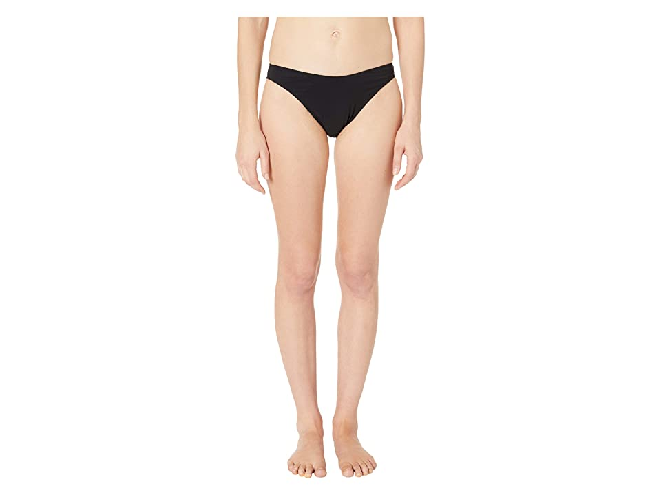 Stella McCartney 90s High Leg Bikini Bottoms (Black) Women