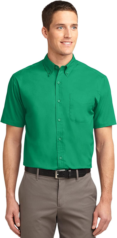 Port Authority Tall Short Sleeve Easy Care Shirt. TLS508 Court Green XLT
