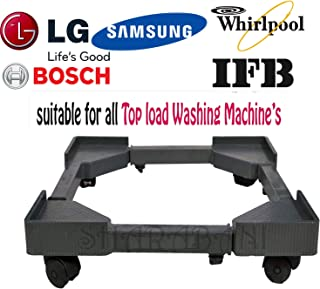 Sharabani Adjustable Universal Top Loading Washing Machine Trolley with Stand