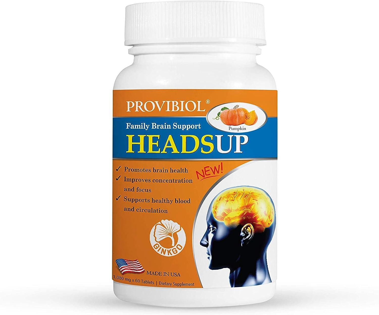 Provibiol HeadsUp sold out - Ginkgo Biloba Leaf Fort Worth Mall Seed Vitamins Pumpkin