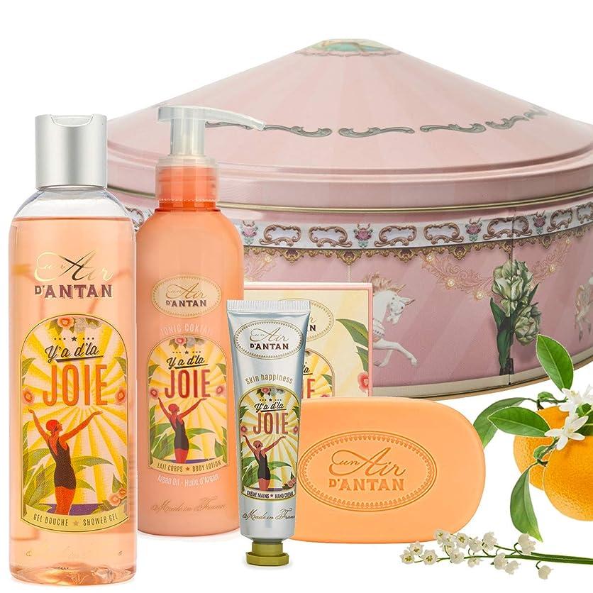 すごいアルファベット失敗JOIE ウーマンビューティーセット (250 ml)- シャワージェル (25ml)- フラワーハンドクリーム. (200 ml) - ボディミルク-石鹸 (100g) - オレンジの花の香水、バラ - Un Air d'Antan 昨年の空気