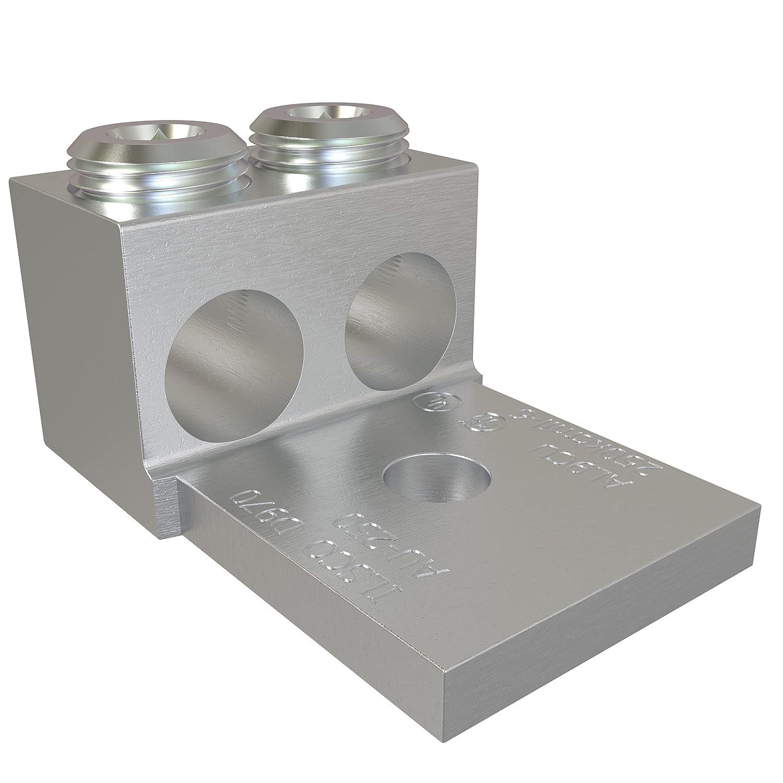 ILSCO AU-250-EC Aluminum Mechanical Lug, Double Barrel, Conducto