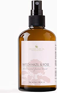 Rose Water Facial Toner Spray | 100% Natural Bulgarian Rosewater with Aloe, Tea Tree, Witch Hazel | Hydrating & Rejuvenating for Face & Neck | No Alcohol | Natural Face Mist by Organic Pure Oil (8 oz)