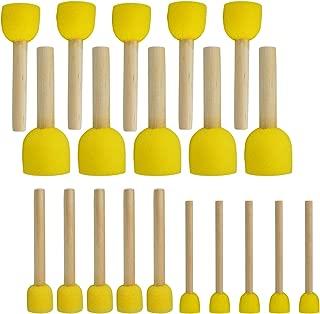 20 PCS Round Sponges Brush Set Kids Painting Tools - Pistha Sponge Painting Stippler SetDIY Painting Tools in 4 Sizes for Kids