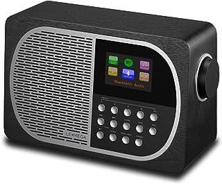 LEMEGA M2+ Smart Radio with Internet Radio, FM Radio, Bluetooth, Spotify, WiFi, Headphone-Out, USB MP3, AUX-in, Clock, Alarms, Sleep, Snooze, Colour Display & App Control (Black Oak)
