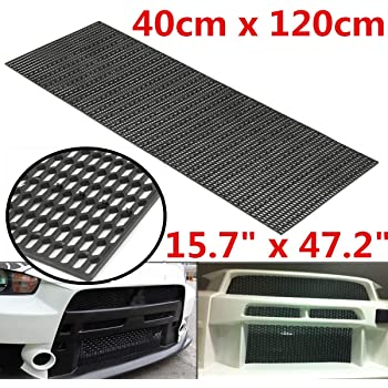 """other sizes Top Quality Universal race mesh 47/"""" X 14/"""" Car Bumpers Grills Vents"""