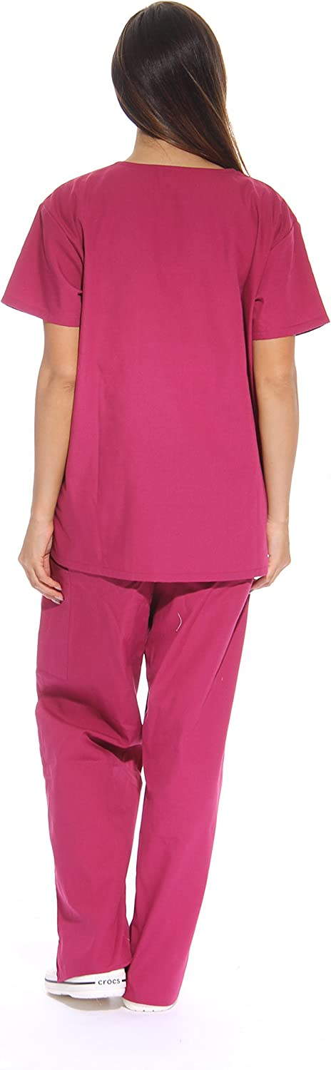 Just Love Women's Scrub Sets Six Pocket Medical Scrubs (V-Neck with Cargo Pant): Clothing