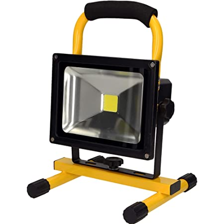20W LED Strahler Baustrahler mit Akku für außen /& Tragbares Bodenstativ