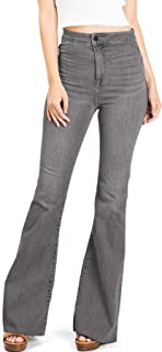 Cello Jeans Women's Juniors High Rise Stretchy Flared Jeans