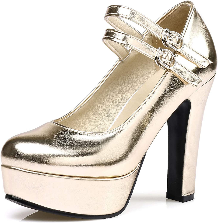 096a059c3c5 100FIXEO Women Extreme High Heels Mary Jane Jane Jane Pumps 670692 ...