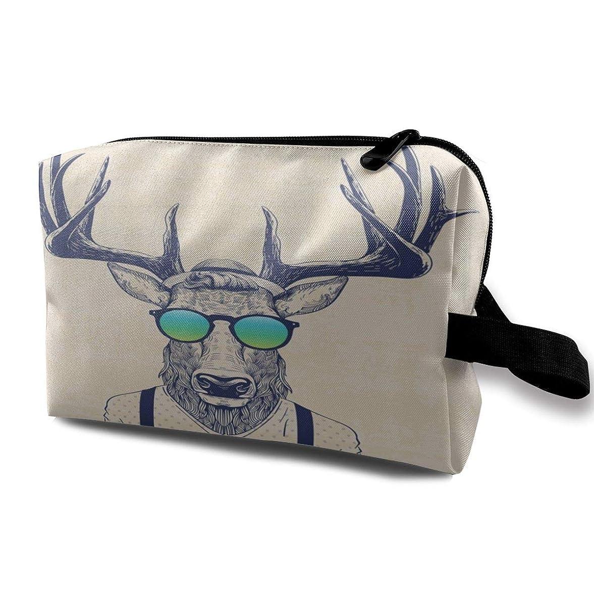 次へ偽装する違反クールな鹿 化粧バッグ 収納袋 女大容量 化粧品クラッチバッグ 収納 軽量 ウィンドジップ