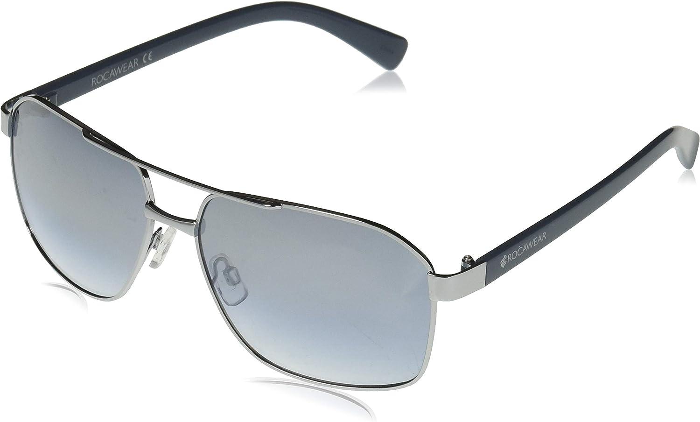 Rocawear Men's R1494 Under OFFicial mail order blast sales Rectangular Metal Aviator-Style Sunglasses