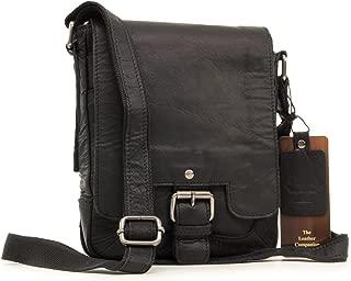 Ashwood Cross Body Bag - Kindle/iPad/Tablet A5 Size - Small Shoulder Messenger/Work Bag - Genuine Leather - 8341 - Black