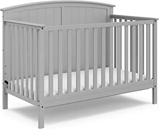 StorkCraft Steveston 4-in-1 Convertible Crib, Pebble Gray, Easily Converts to Toddler Bed Day Bed or Full Bed, Three Position Adjustable Height Mattress, Some Assembly Required (Mattress Not Included)