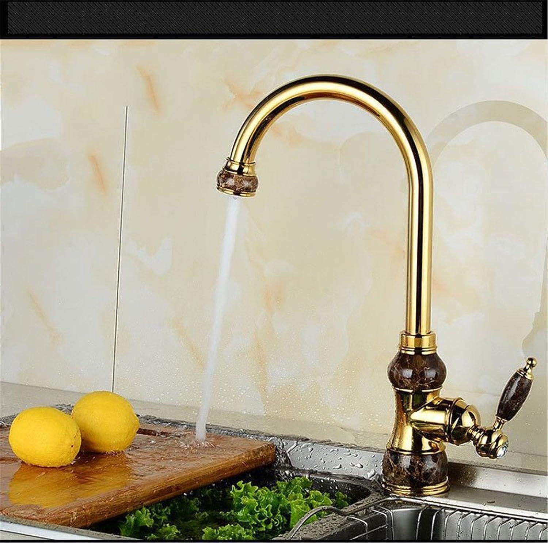 Küchenarmatur Wasserhahn Küche Mit Herausziehbarer Dual-Spülbrause Kaltes Und Heies Wasser Europische Kupfer Küche Waschbecken Wasserhahn Hei Und Kalt 360 Drehbecken Waschbecken Wasserhahn B