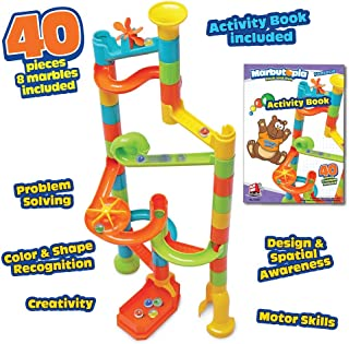 Playmind Marbutopia Fantasia Set (40 pcs) Best Marble Run STEM Toy for Kid Education