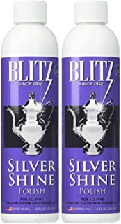 Blitz 20633 Shine Liquid Polish for Sterling and and Silver-Plated, 8 oz