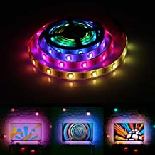 Chasing Effect Led Strip Lights, Waterproof RGB Neon Dreaming Rainbow Color Flexible Rope Light Strip TV Backlight