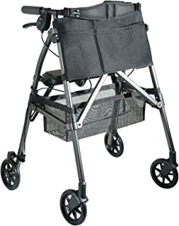 Stander EZ Fold-N-Go Rollator, Lightweight Folding Mobility Rolling Walker for Seniors and Adults, 6-inch Wheels, Locking ...