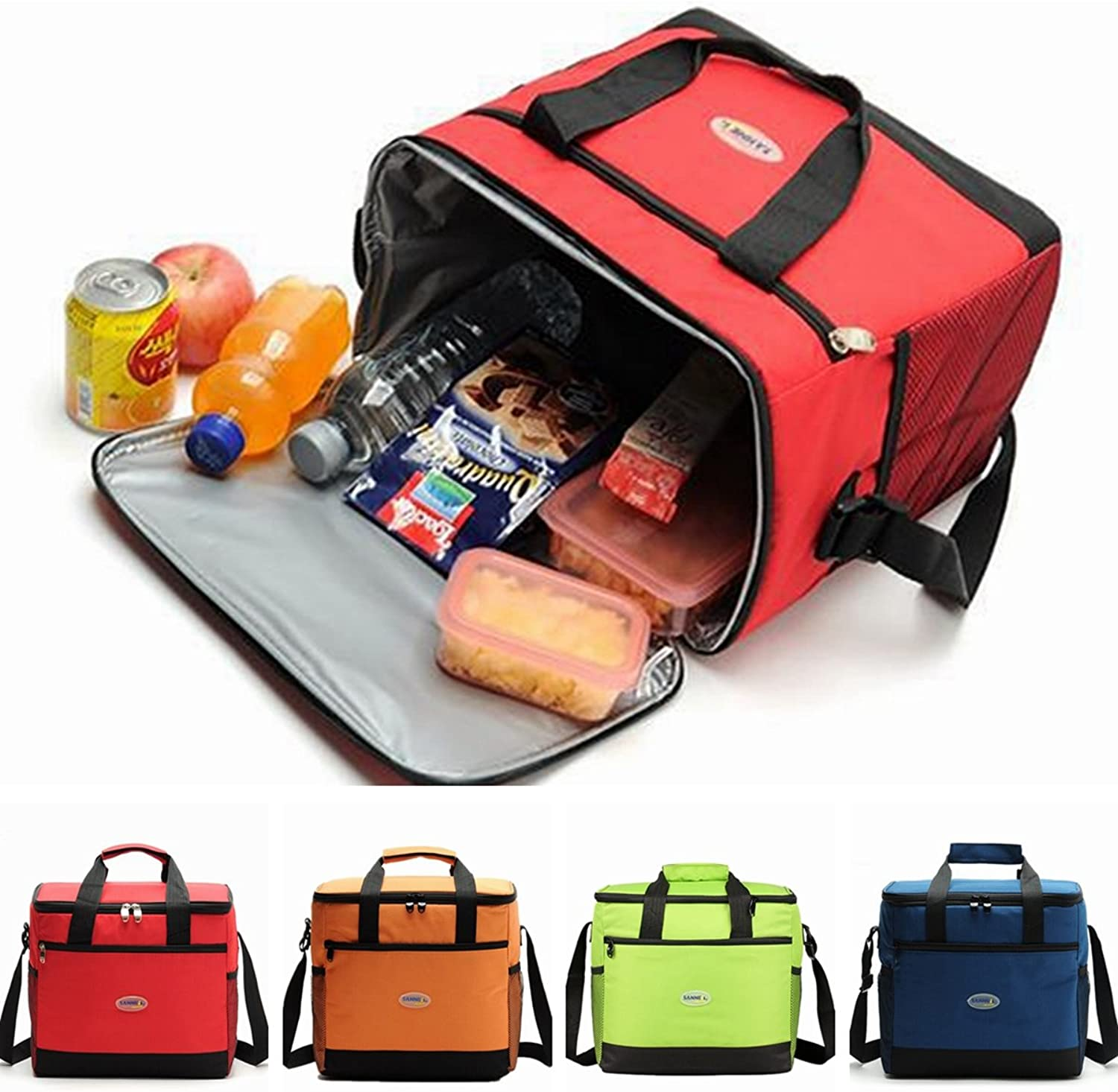 ShopSquare64 Large Insulated Cooler Cool Bag Outdoor Camping Picnic Lunch Shoulder Hand Bag