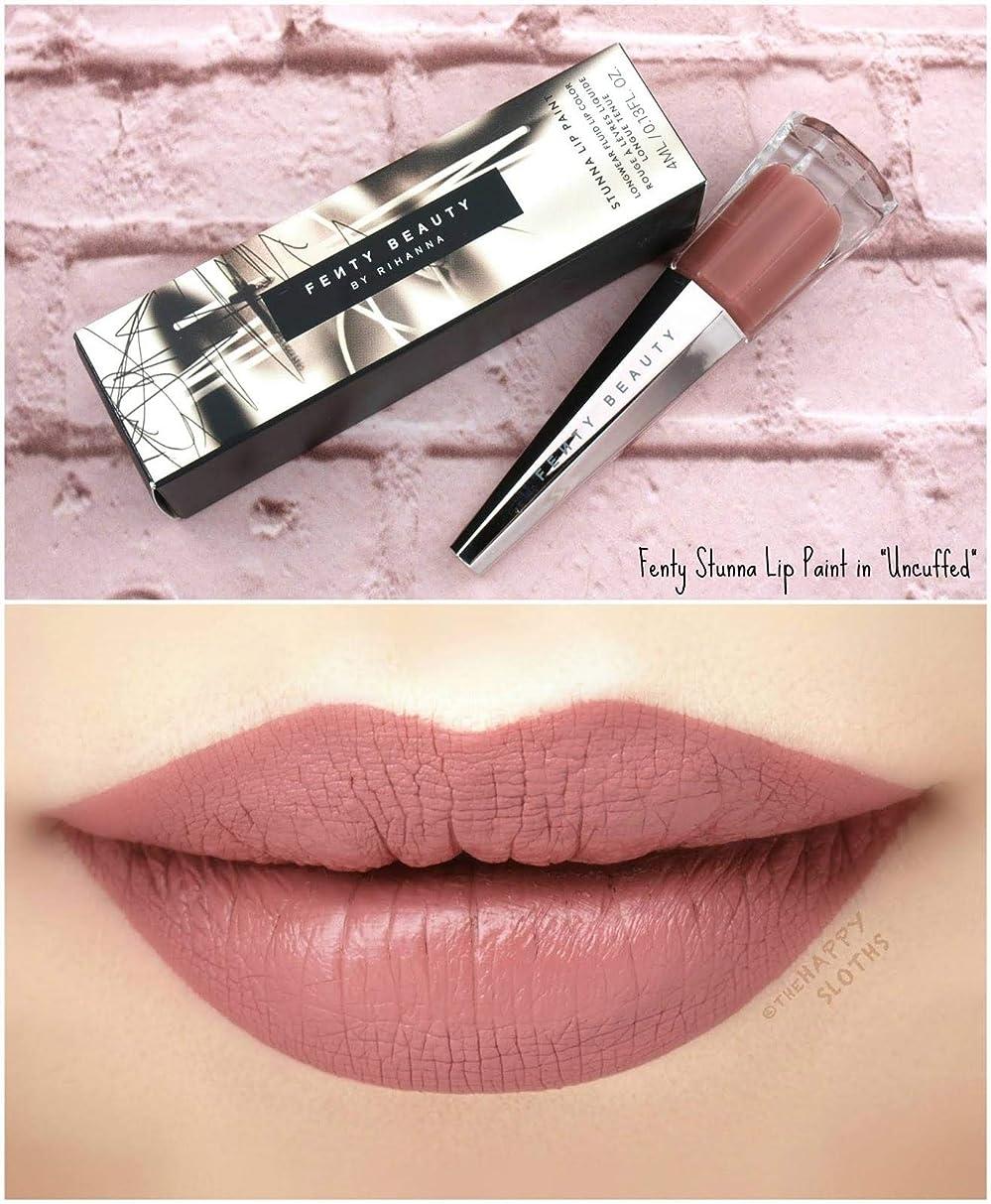 一緒誓う苦悩FENTY BEAUTY BY RIHANNA Stunna Lip Paint Longwear Fluid Lip Color リップ リアーナ フェンティビューティ (Uncuffed - rosy mauve)