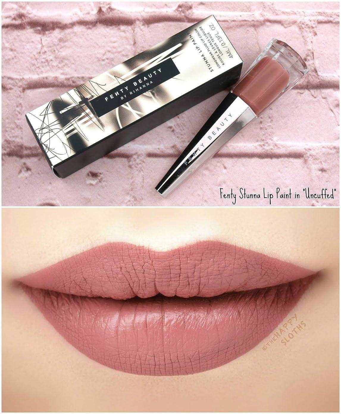 ガソリン絶対にオッズFENTY BEAUTY BY RIHANNA Stunna Lip Paint Longwear Fluid Lip Color リップ リアーナ フェンティビューティ (Uncuffed - rosy mauve)