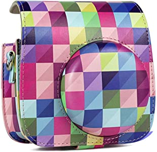 Ritapreaty Color Lattice Camera Bag  Portable Protective Case with Acc...
