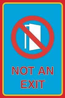 Not An Exit Print No Open Door Picture Business Office Sign Aluminum Metal