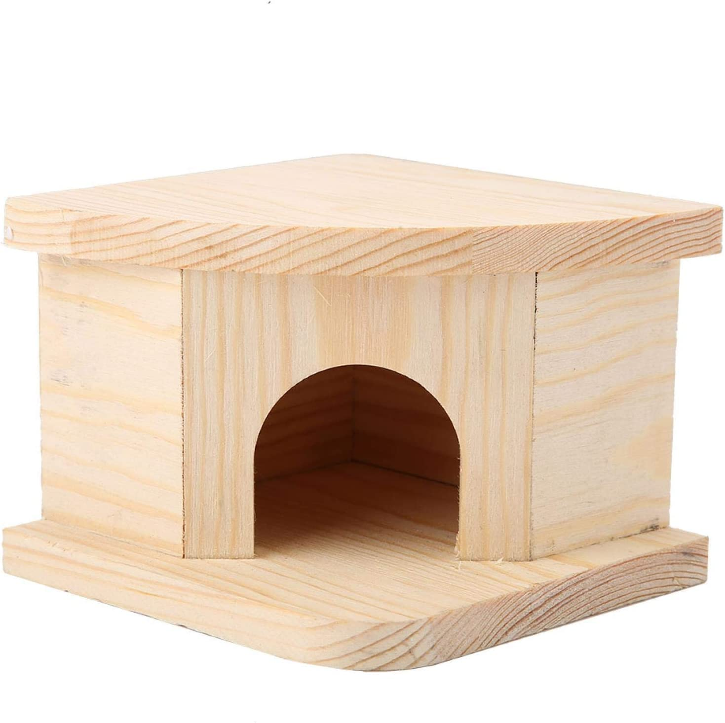Department store Okuyonic Wooden Max 88% OFF Hamster House Comfortab Bed