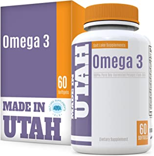 Omega 3 Pure Sea Harvested Pelagic Fish Oil - Naturally Rich in Essential Fatty Acids High in EPA & DHA, for Cardiovascular & Brain Health and Joint Flexibility