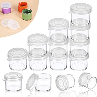 Small Paint Cup with Lids, Plastic Mini Paint Containers DIY Craft Storage Containers Craft Paint Cup for Paint Beads Seed...