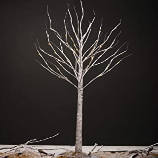 pop-belief Birch Lighted Tree 6 Feet Artificial Chirstmas Decorations Tree 96 Led Lights for Home/Bedroom/Office/Party/Wedding/Festival/Christmas Indoor and Outdoor Warm White