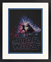 Dimensions 70-35382 Star Wars Luke Skywalker and Darth Vader Cross Stitch Kit Black 14 Count Aida, 9