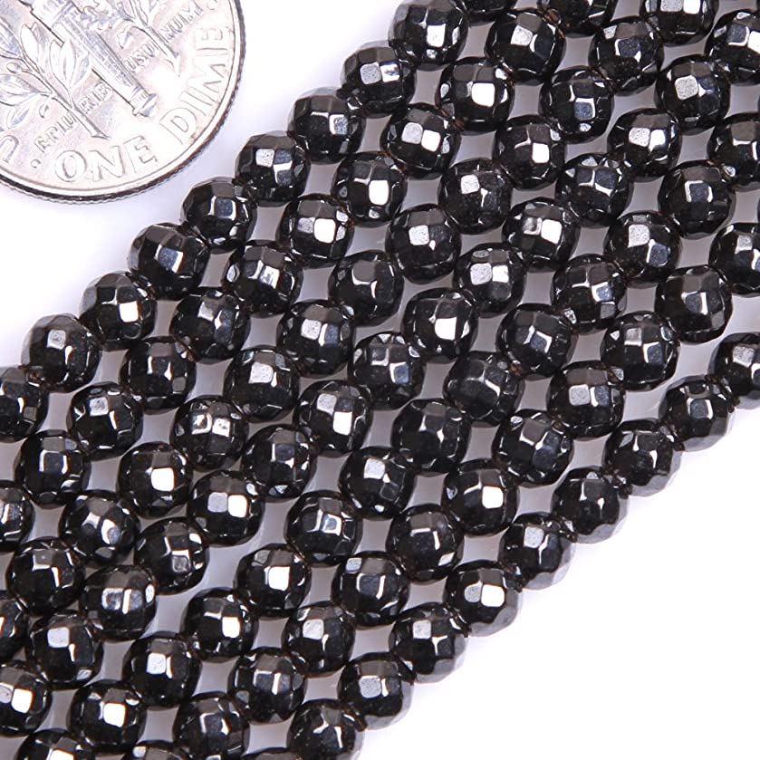 GEM-inside Black Round Faceted Magtice Hematite Gemstone Loose Beads Natural Genuine 4mm Energy Stone Power Beads For Jewelry Making 15