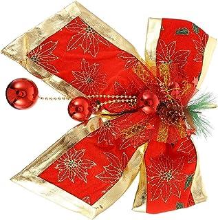 BESPORTBLE Christmas Tree Bows Mini Satin Ribbon Bows Flowers Xmas Tree Topper Bowknot Hanging Ornaments for DIY Crafts Gi...