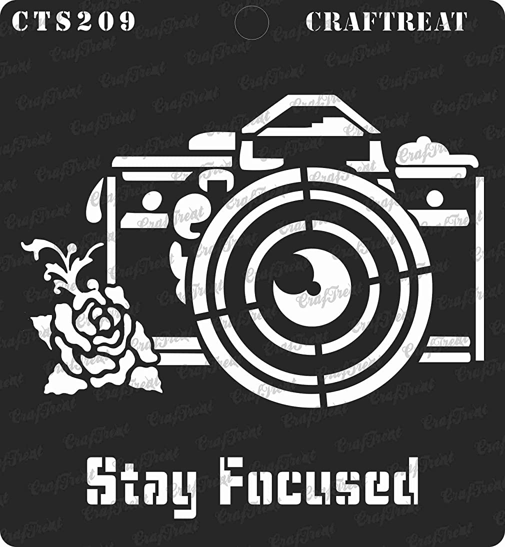 CrafTreat Stencil - Stay Focused | Reusable Painting Template for Journal, Home Decor, Crafting, DIY Albums, Scrapbook, Decoration and Printing on Paper, Floor, Wall, Tile, Fabric, Wood 6