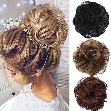 Coexs Chignon Boucle Ondule Chignon Elastique Extension De Cheveux Postiche Chouchou De Perruque Noir Naturel Amazon Fr Beaute Et Parfum